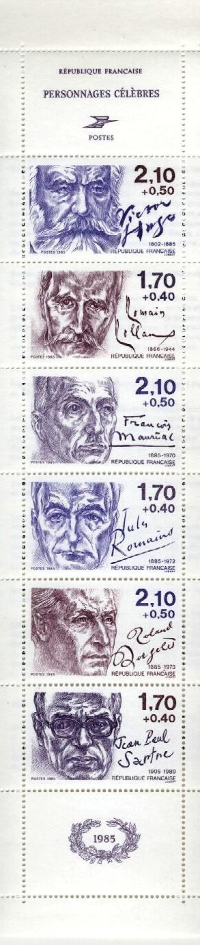 Stamps with Famous Persons, Booklet, Literature from France (image for product #036094)