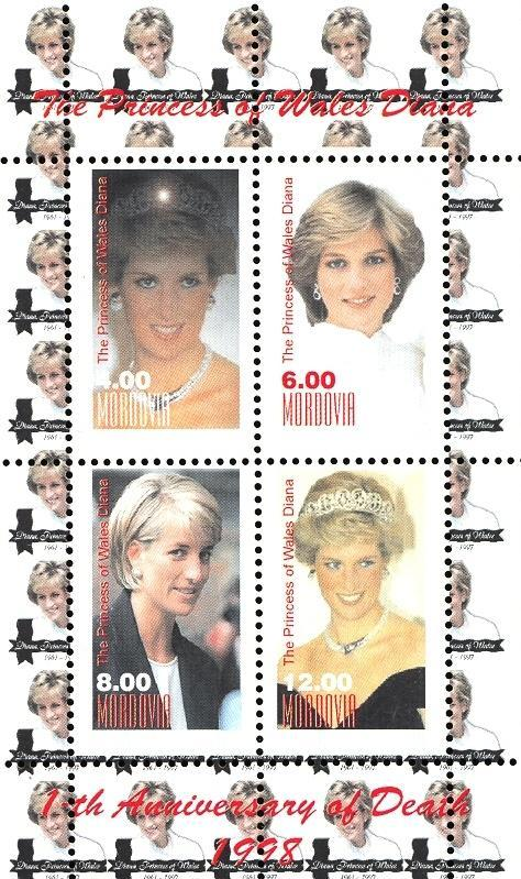 Stamps with Diana from Mordovia (non official) (image for product #036108)
