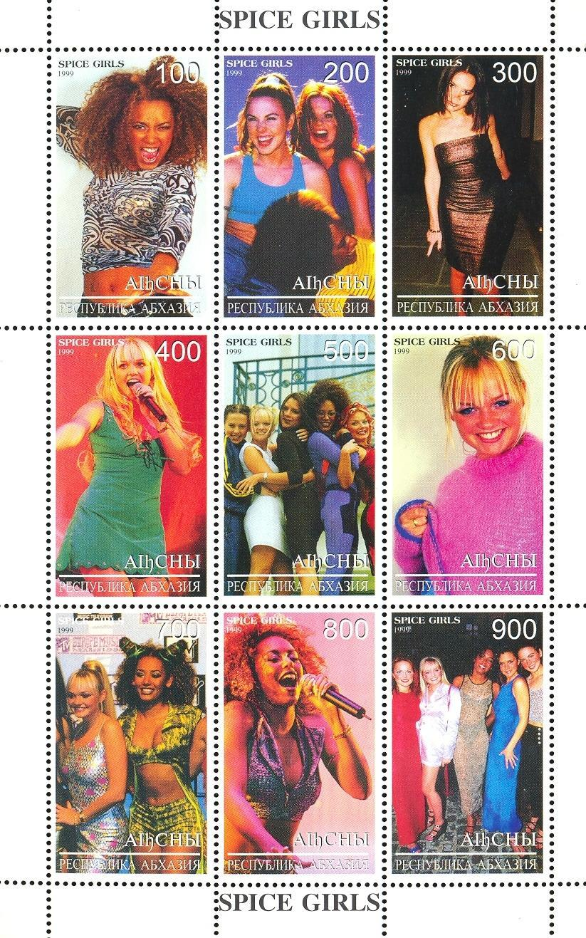 Stamps with Popstars from Abkhazia (non official) (image for product #036132)