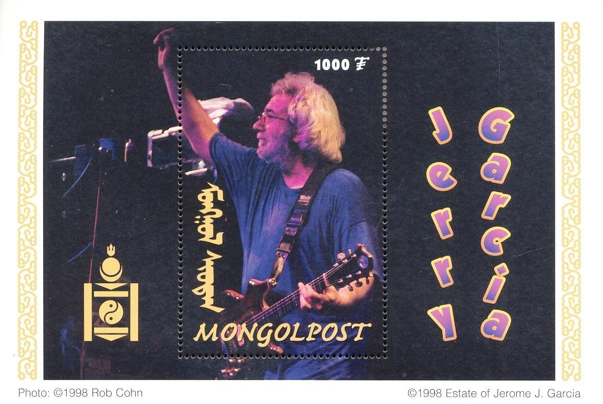 Stamps with Music Instruments, Popstars, Garcia (Jerry) from Mongolia (image for product #036136)