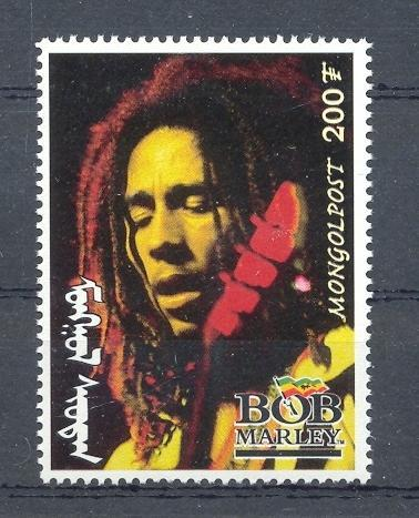 Stamps with Popstars, Bob Marley from Mongolia (image for product #036137)