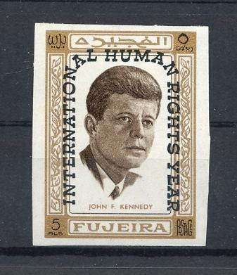 Stamps with Human Rights, Kennedy from Fujeira (image for product #036154)
