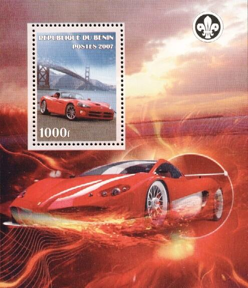 Stamps with Bridge, Racing Cars, Scouting from Benin (non official) (image for product #036176)
