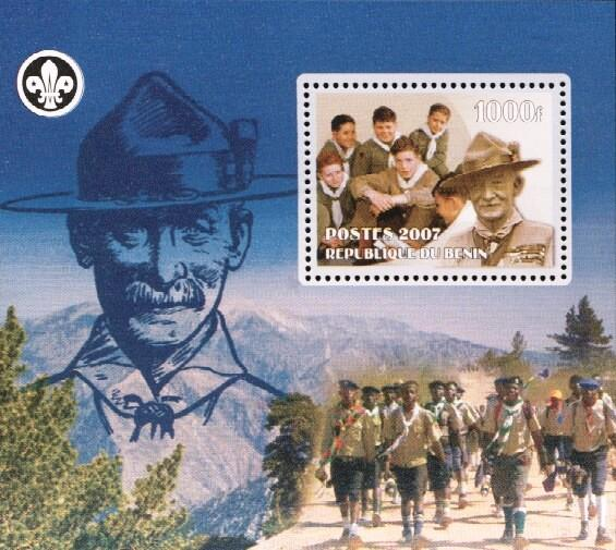 Stamps with Baden Powell, Scouting from Benin (non official) (image for product #036186)