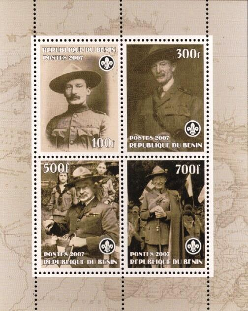 Stamps with Scouting, Baden Powell from Benin (non official) (image for product #036188)