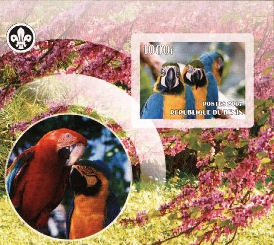 Stamps with Bird, Scouting, Parrot from Benin (non official) (image for product #036199)