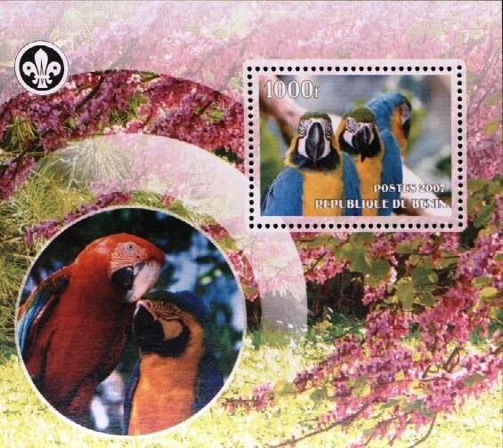 Stamps with Bird, Scouting, Parrot from Benin (non official) (image for product #036200)