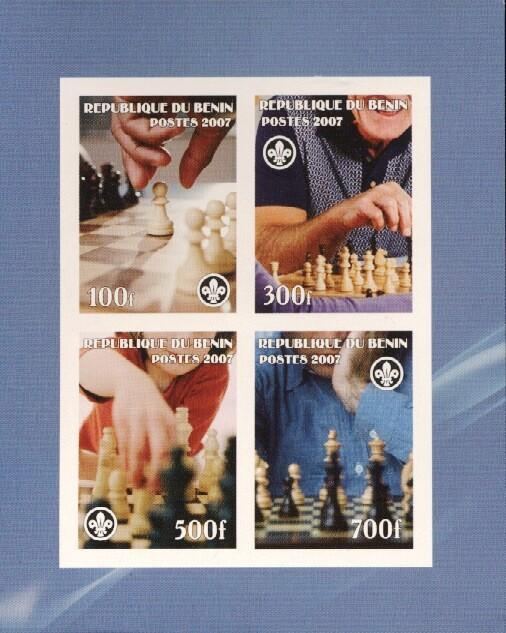 Stamps with Chess, Scouting from Benin (non official) (image for product #036209)