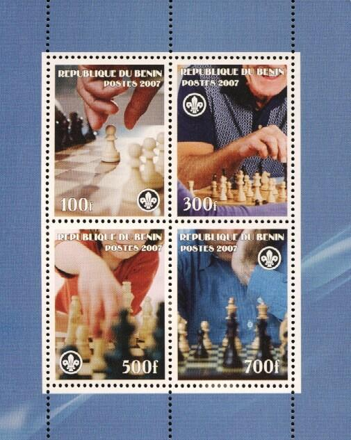 Stamps with Chess, Scouting from Benin (non official) (image for product #036210)