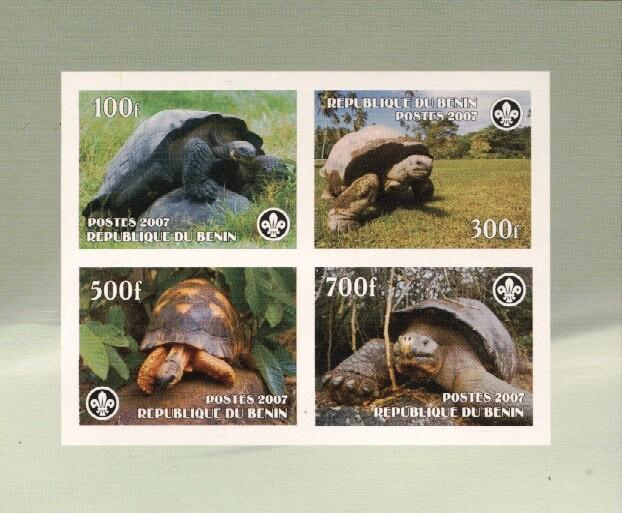 Stamps with Scouting, Turtle from Benin (non official) (image for product #036227)