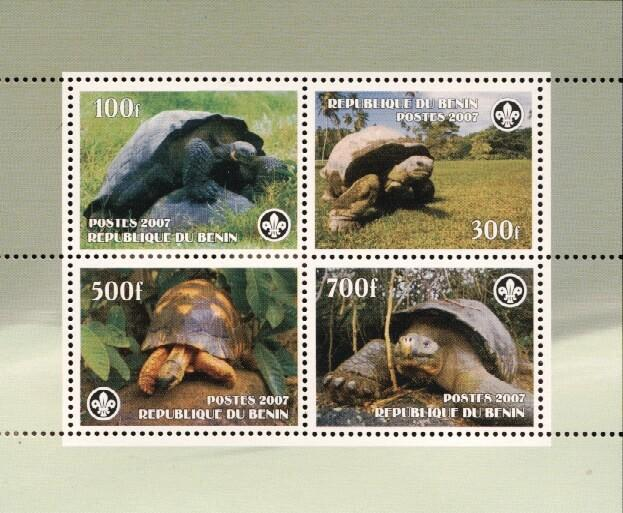 Stamps with Scouting, Turtle from Benin (non official) (image for product #036228)