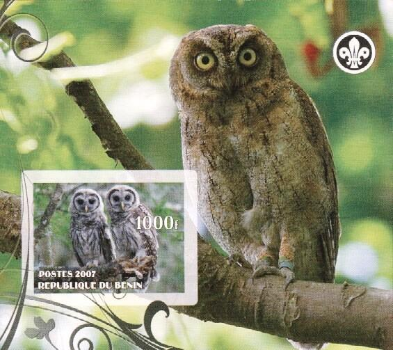 Stamps with Bird, Scouting, Owl from Benin (non official) (image for product #036235)