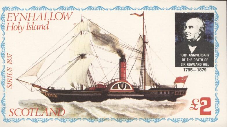 Stamps with Rowland Hill, Ship from Eynhallow (non official) (image for product #036255)