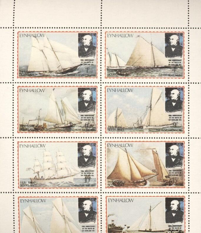 Stamps with Rowland Hill, Ship from Eynhallow (non official) (image for product #036256)