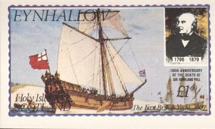 Stamps with Rowland Hill, Ship from Eynhallow (non official) (image for product #036257)