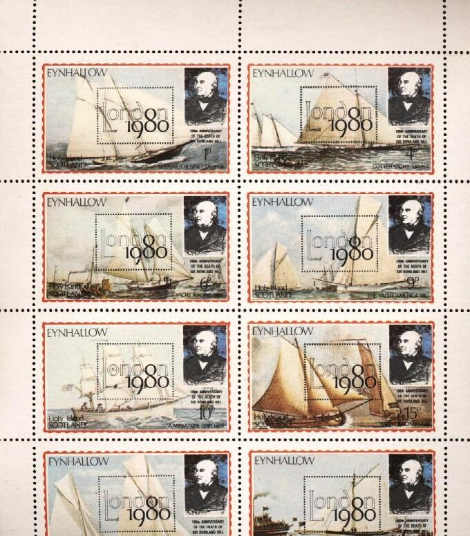 Stamps with Ship, Rowland Hill, Philatelic Exhibition from Eynhallow (non official) (image for product #036261)