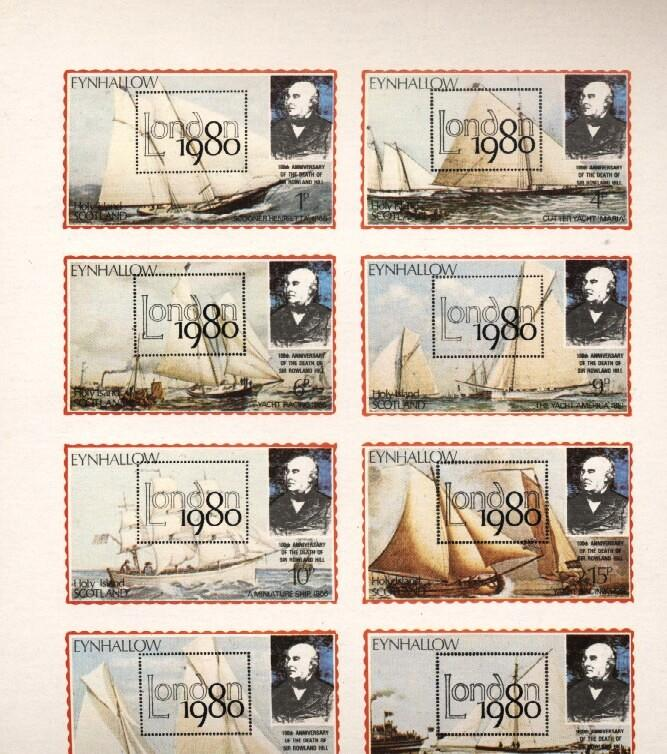 Stamps with Ship, Rowland Hill, Philatelic Exhibition from Eynhallow (non official) (image for product #036262)