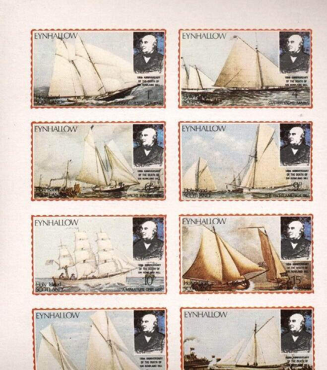 Stamps with Ship, Rowland Hill from Eynhallow (non official) (image for product #036264)