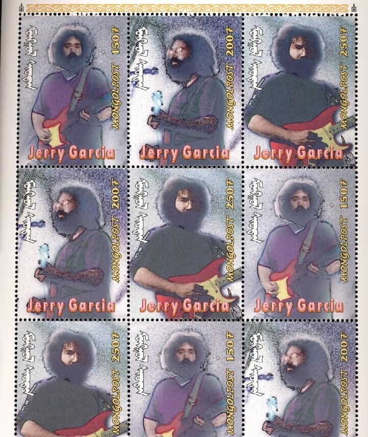 Stamps with Popstars, Garcia (Jerry), Jerry Garcia from Mongolia (image for product #036281)