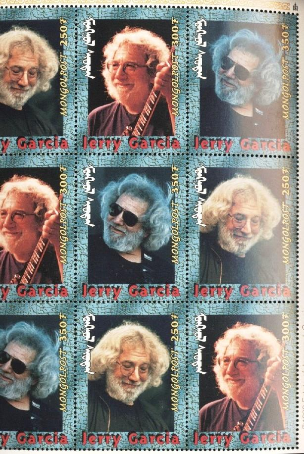 Stamps with Popstars, Garcia (Jerry), Jerry Garcia from Mongolia (image for product #036282)