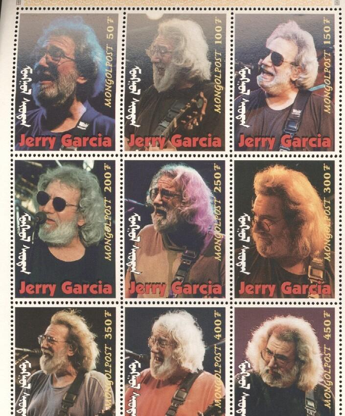 Stamps with Popstars, Garcia (Jerry), Jerry Garcia from Mongolia (image for product #036284)