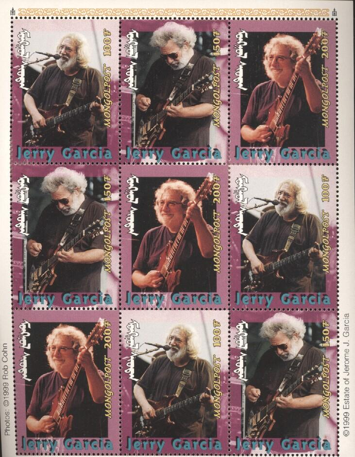 Stamps with Popstars, Garcia (Jerry), Jerry Garcia from Mongolia (image for product #036285)