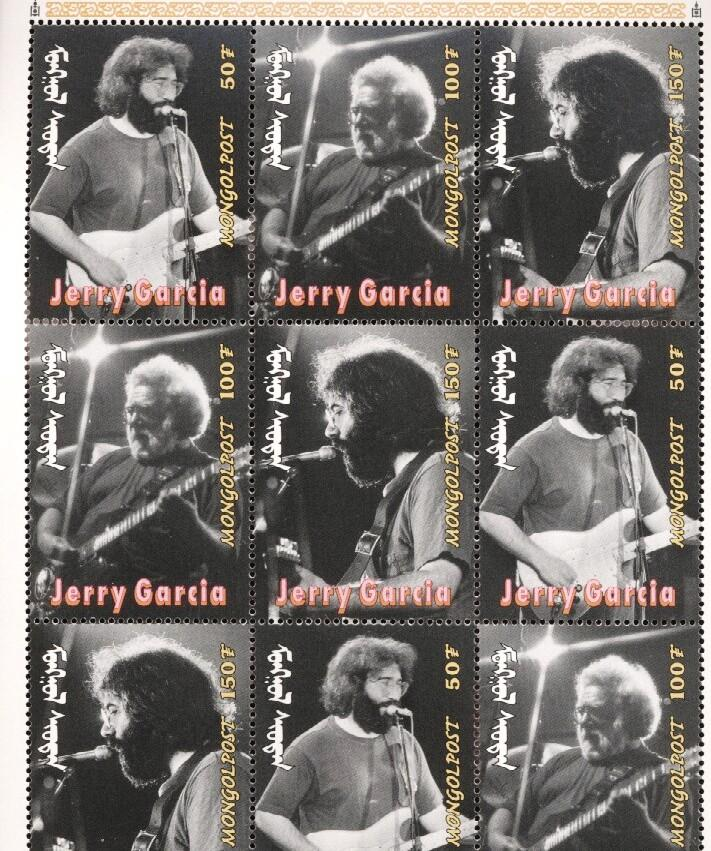 Stamps with Jerry Garcia, Popstars, Garcia (Jerry) from Mongolia (image for product #036286)