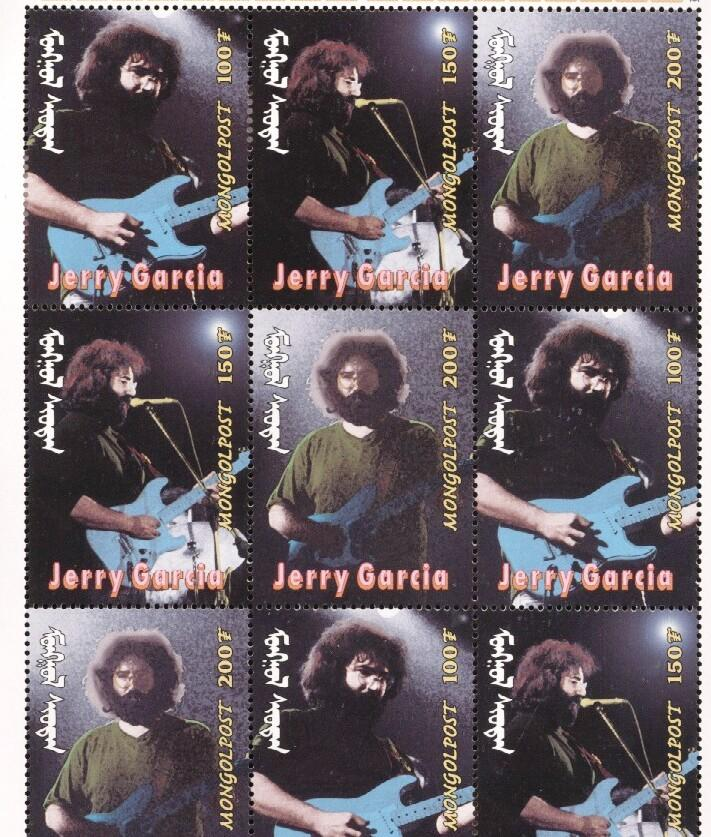 Stamps with Popstars, Garcia (Jerry), Jerry Garcia from Mongolia (image for product #036290)