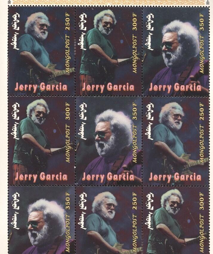 Stamps with Jerry Garcia, Popstars, Garcia (Jerry) from Mongolia (image for product #036291)