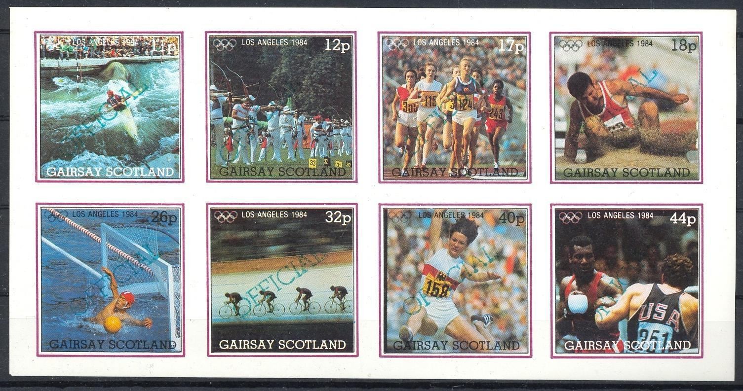 Stamps with Olympic Games, Archery, Bicycle, Athletics, Boxing, Waterpolo from Gairsay (non official) (image for product #036298)