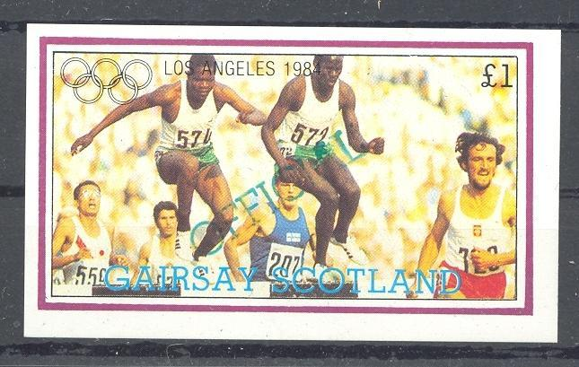Stamps with Olympic Games, Athletics from Gairsay (non official) (image for product #036326)