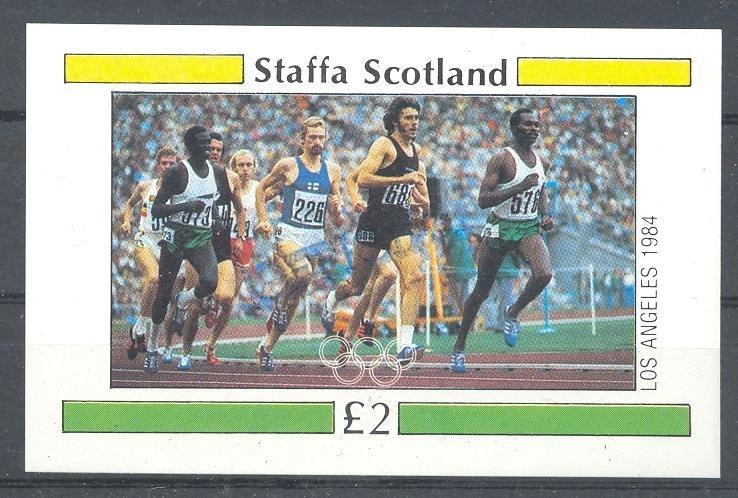 Stamps with Athletics, Olympic Games from Staffa (non official) (image for product #036339)