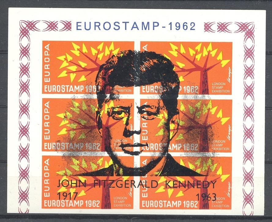 Stamps with Europe, Kennedy from United Kingdom (image for product #036351)