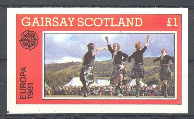 Stamps with Kilt, Uniform, Europe CEPT from Gairsay (non official) (image for product #036354)