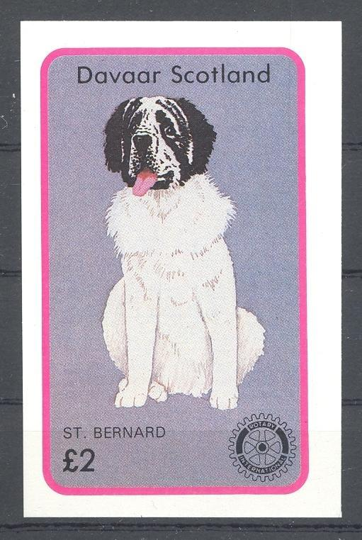 Stamps with Dogs, Rotary from Davaar (non official) (image for product #036365)