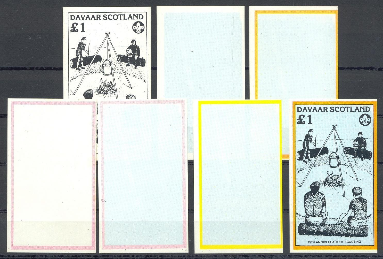 Stamps with Scouting from Davaar (non official) (image for product #036370)