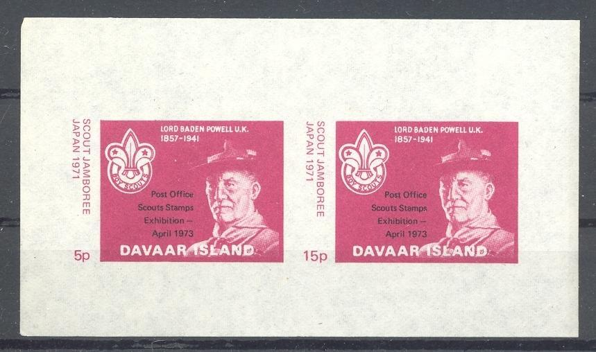 Stamps with Scouting from Davaar (non official) (image for product #036373)