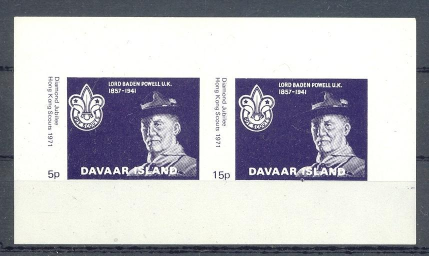 Stamps with Scouting from Davaar (non official) (image for product #036377)