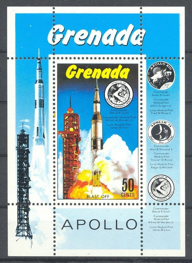 Stamps with Space from Grenada (image for product #036398)