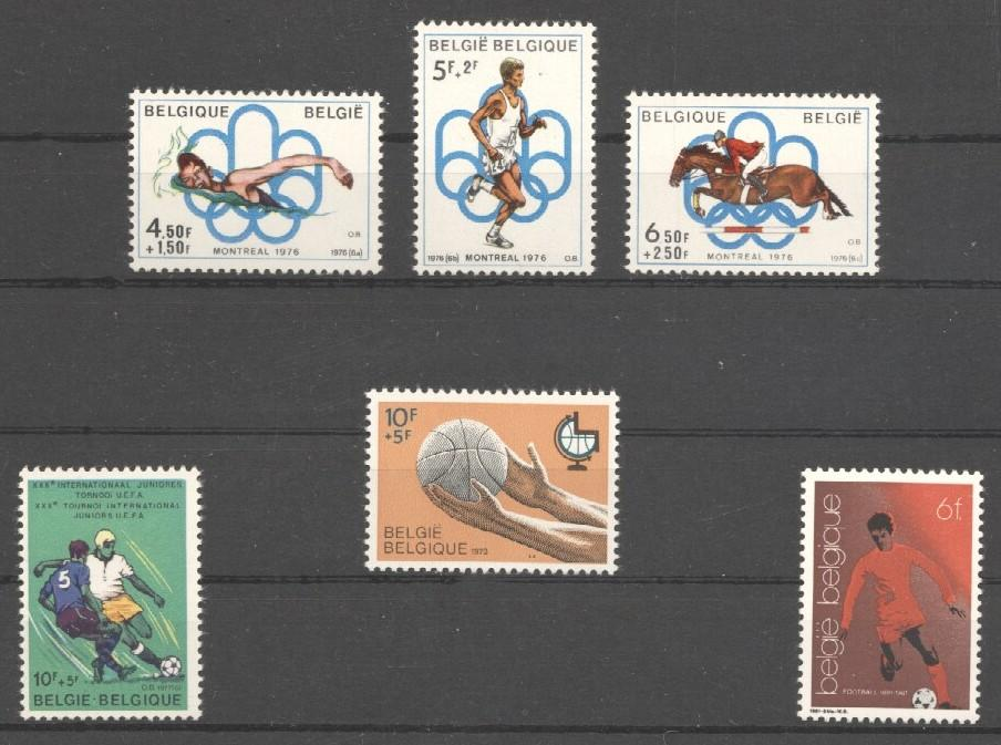 Stamps with Soccer, Olympic Games from Belgium (image for product #036442)