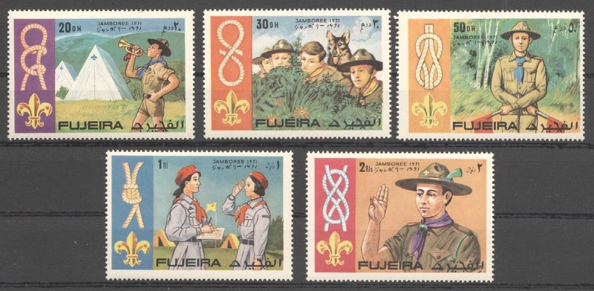 Stamps with Scouting from Fujeira (image for product #036460)