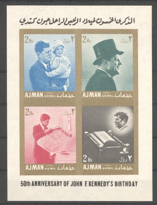 Stamps with Kennedy from Ajman (image for product #036551)