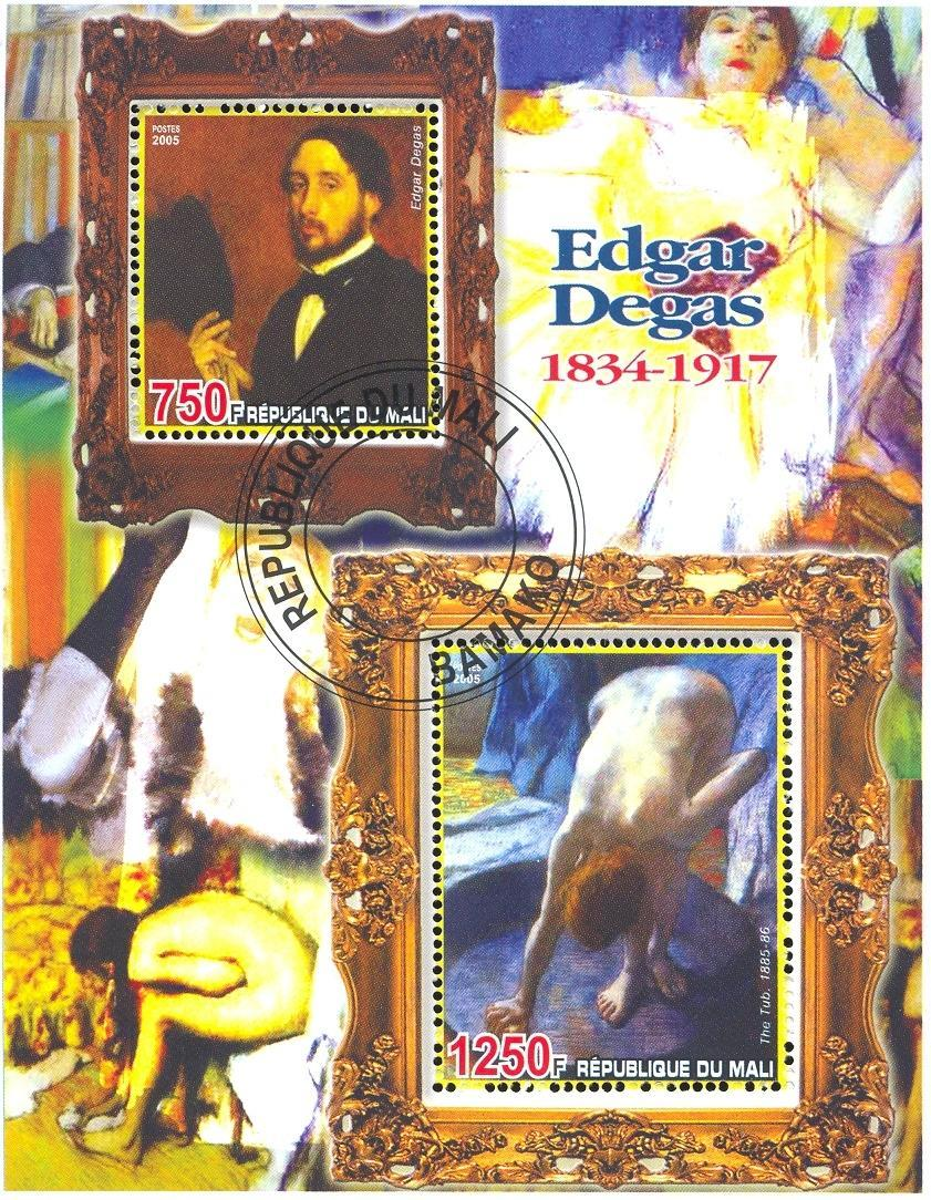 Stamps with Art, Nude, Degas from Mali (non official) (image for product #036684)