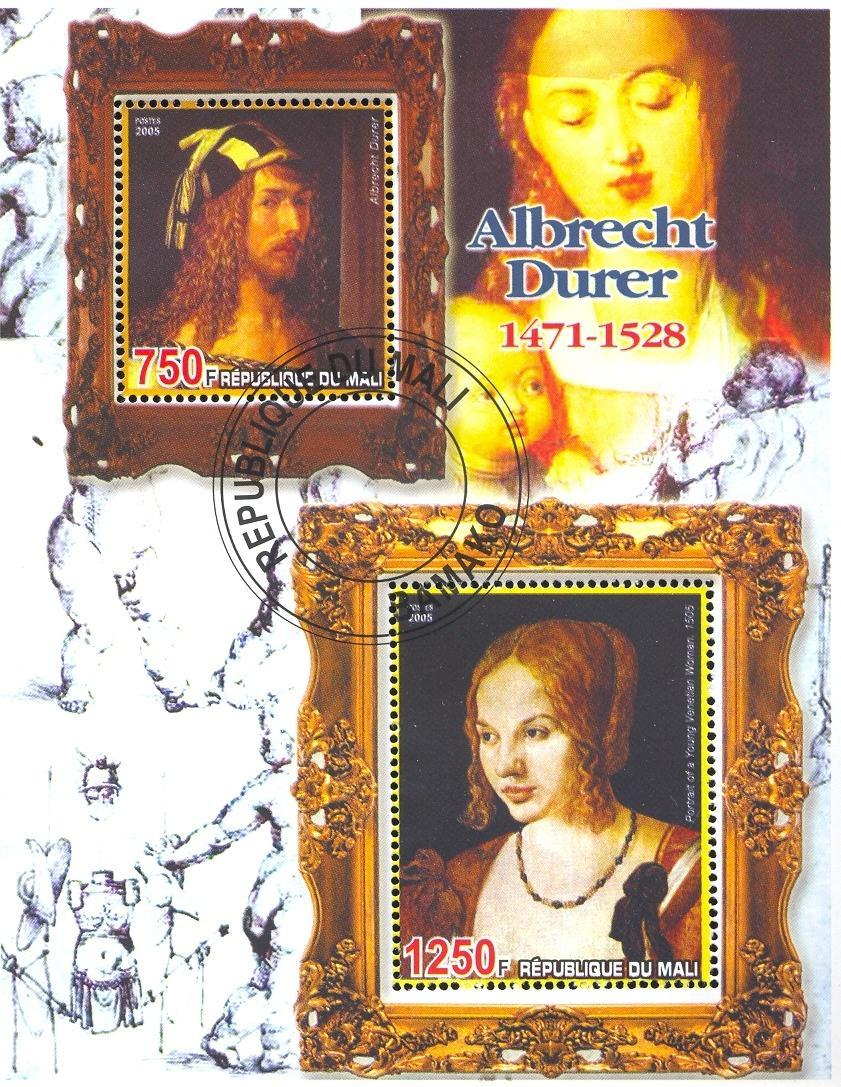 Stamps with Art, Nude, Duerer (Albrecht) from Mali (non official) (image for product #036686)