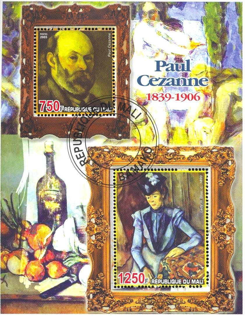 Stamps with Art, Nude, Cezanne from Mali (non official) (image for product #036687)