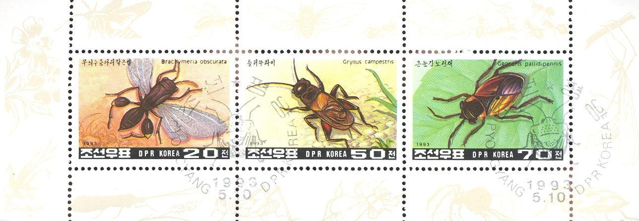 Stamps with Insects from  (image for product #036721)