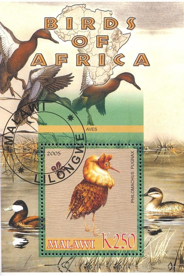 Stamps with Bird, Map, Scouting, Ducks from Malawi (non official) (image for product #036752)