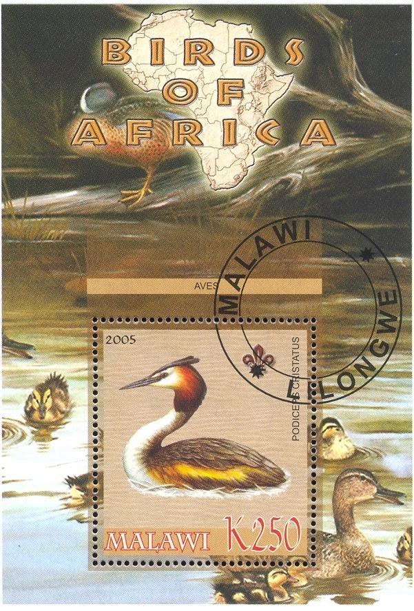 Stamps with Bird, Map, Scouting, Ducks from Malawi (non official) (image for product #036753)