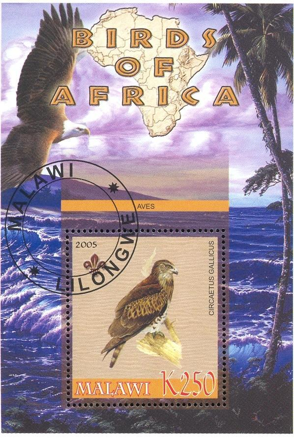 Stamps with Bird, Map, Scouting, Eagle from Malawi (non official) (image for product #036761)