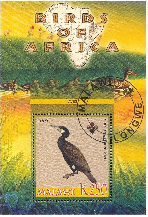 Stamps with Bird, Map, Scouting, Ducks from Malawi (non official) (image for product #036763)